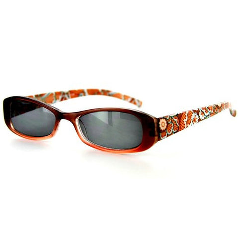 """Sun Orchard"" Fashion Non-Bifocal Reading Sunglasses with Floral Design - Aloha Eyes - 1"