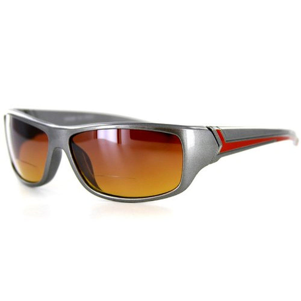 """Voyager"" Bifocal Sunglasses with Wrap-Around Sport Design for Youthful and Active Men - Aloha Eyes - 5"