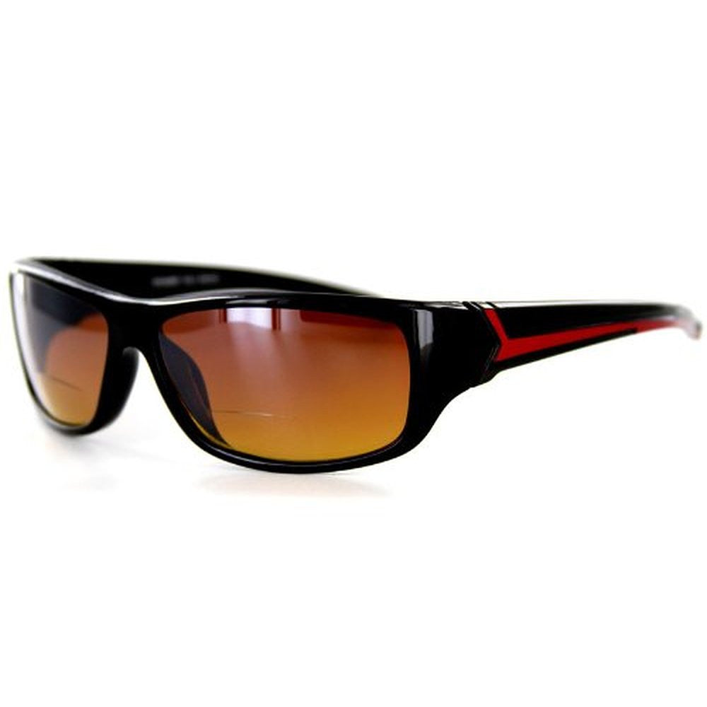 """Voyager"" Bifocal Sunglasses with Wrap-Around Sport Design for Youthful and Active Men - Aloha Eyes - 3"