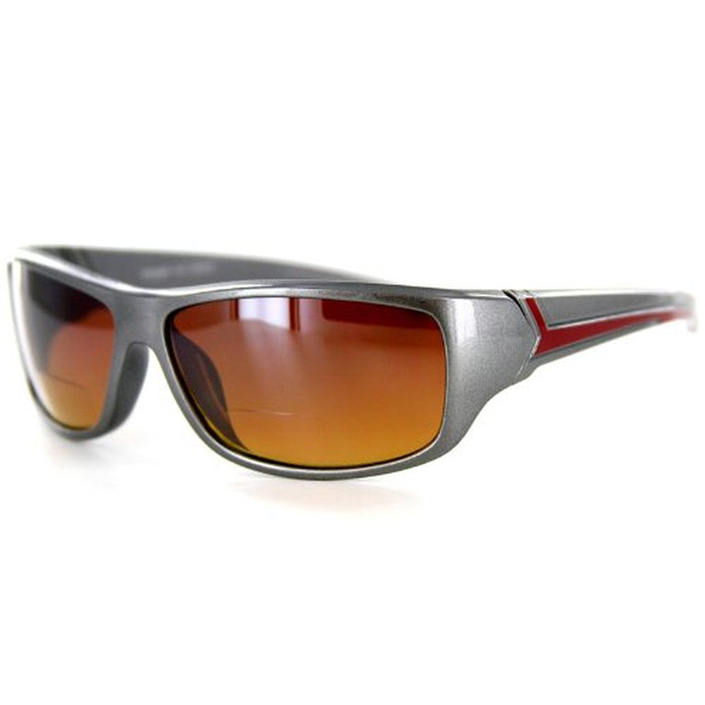 """Voyager"" Bifocal Sunglasses with Wrap-Around Sport Design for Youthful and Active Men - Aloha Eyes - 6"