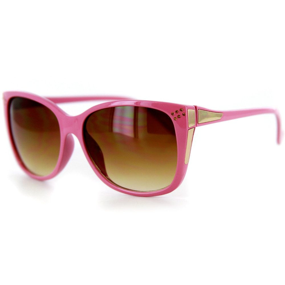 """Stella"" Trendy Wayfarer Sunglasses and Crystals 100%UV - Aloha Eyes - 4"