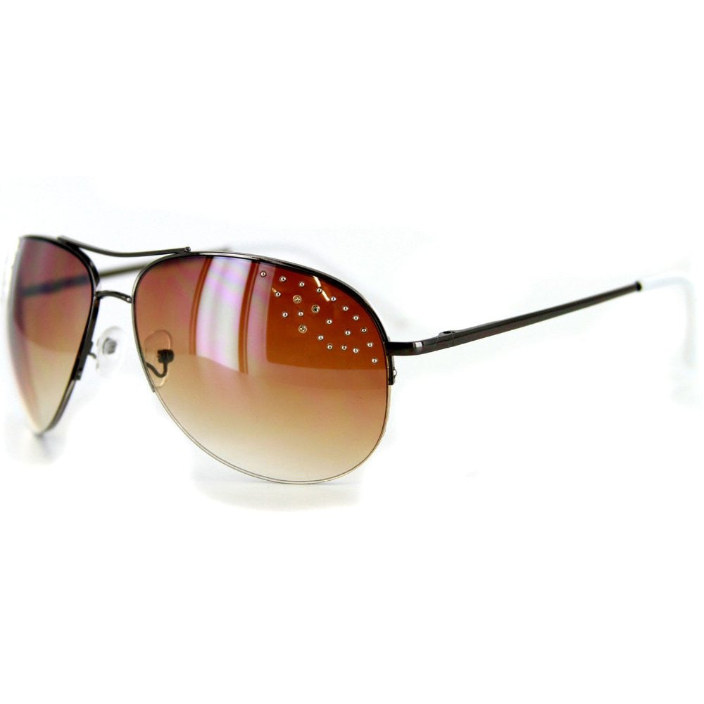 """Starlet"" Women's Designer Sunglasses with Aviator Frames and Austrian Crystals - Aloha Eyes - 3"