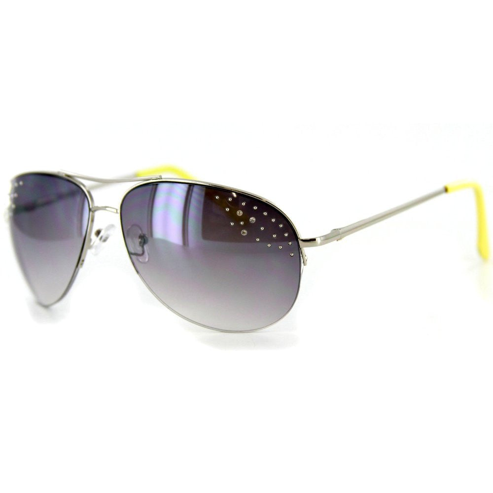"""Starlet"" Women's Designer Sunglasses with Aviator Frames and Austrian Crystals - Aloha Eyes - 4"