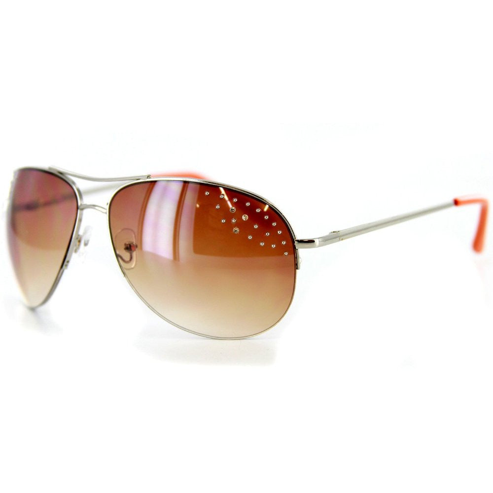 """Starlet"" Women's Designer Sunglasses with Aviator Frames and Austrian Crystals - Aloha Eyes - 2"