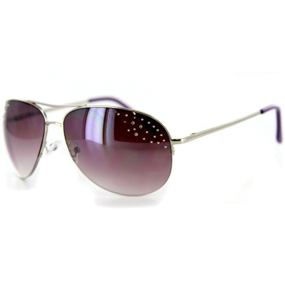 """Starlet"" Women's Designer Sunglasses with Aviator Frames and Austrian Crystals - Aloha Eyes - 5"