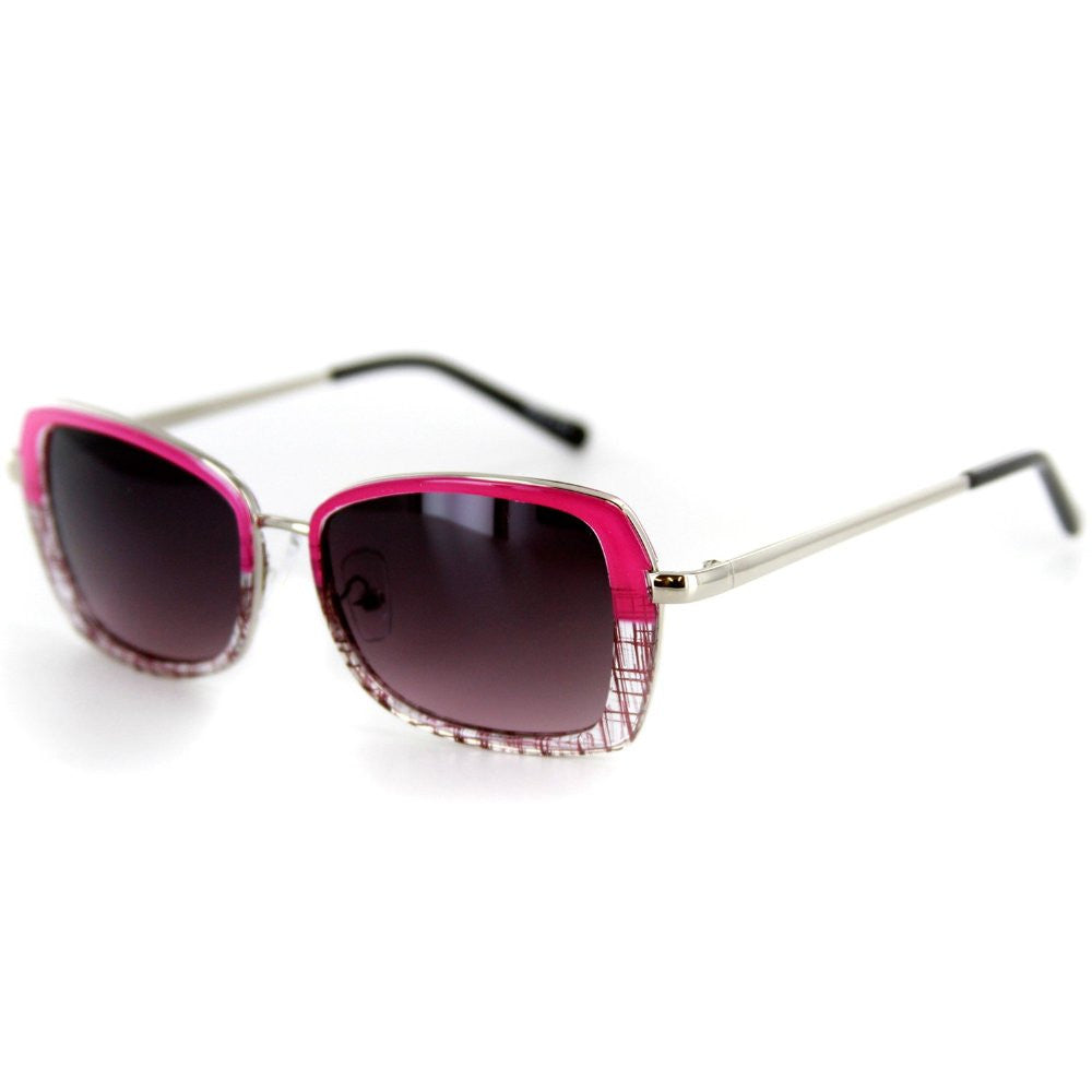 """Flair"" Designer Sunglasses with Stylish Patterned Frames and Square Lenses for Women - Aloha Eyes - 4"
