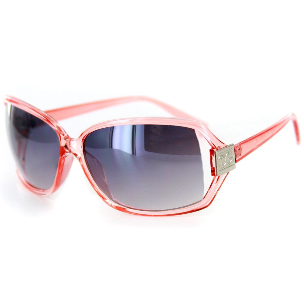 """Roma"" Designer-Inspired Large Lens Sunglasses, Temple Embellishment, 100%UV - Aloha Eyes - 5"