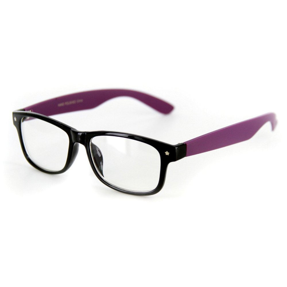 """Star Burst"" ""Just for Fun"" Clear Lens Wayfarer Fake Glasses -100% UV Protection - Aloha Eyes - 6"