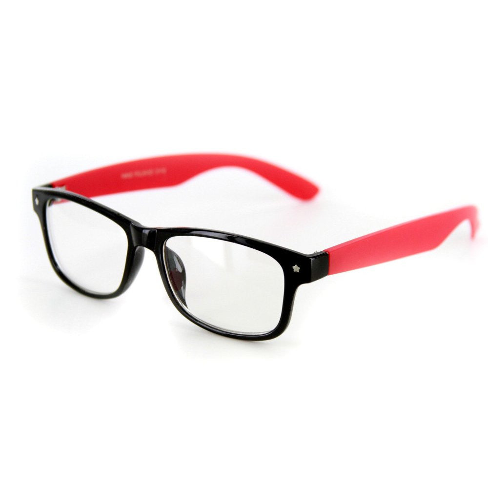 """Star Burst"" ""Just for Fun"" Clear Lens Wayfarer Fake Glasses -100% UV Protection - Aloha Eyes - 7"