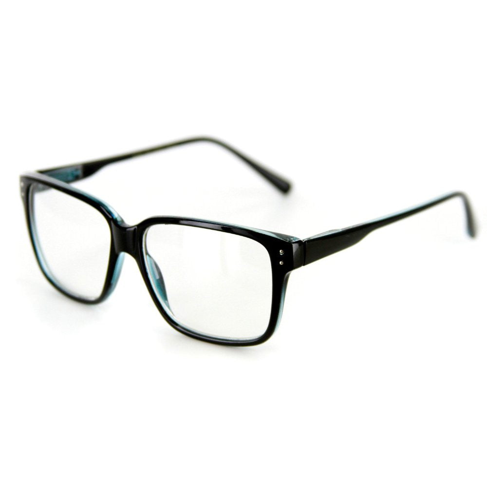 """Quantum"" Square Shaped Clear Fashion Glasses for Trendsetters 100% UV Protection - Aloha Eyes - 2"