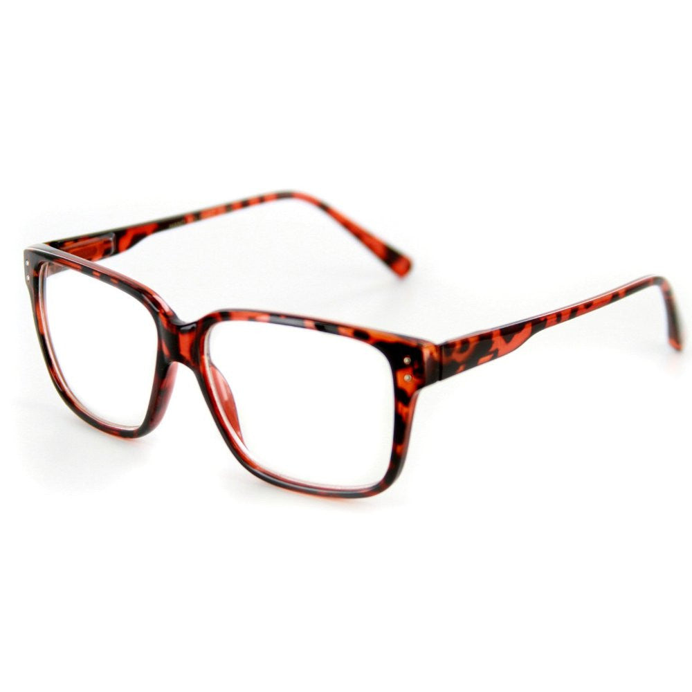 """""""Quantum"""" Square Shaped Clear Fashion Glasses for Trendsetters 100% UV  Protection - Aloha; """" ..."""