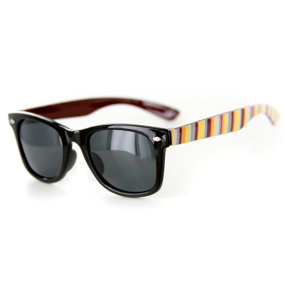 """Lollipops"" Polarized (Anti-Glare) Kids Striped Retro Wayfarer Sunglasses 100%UV - Aloha Eyes - 2"