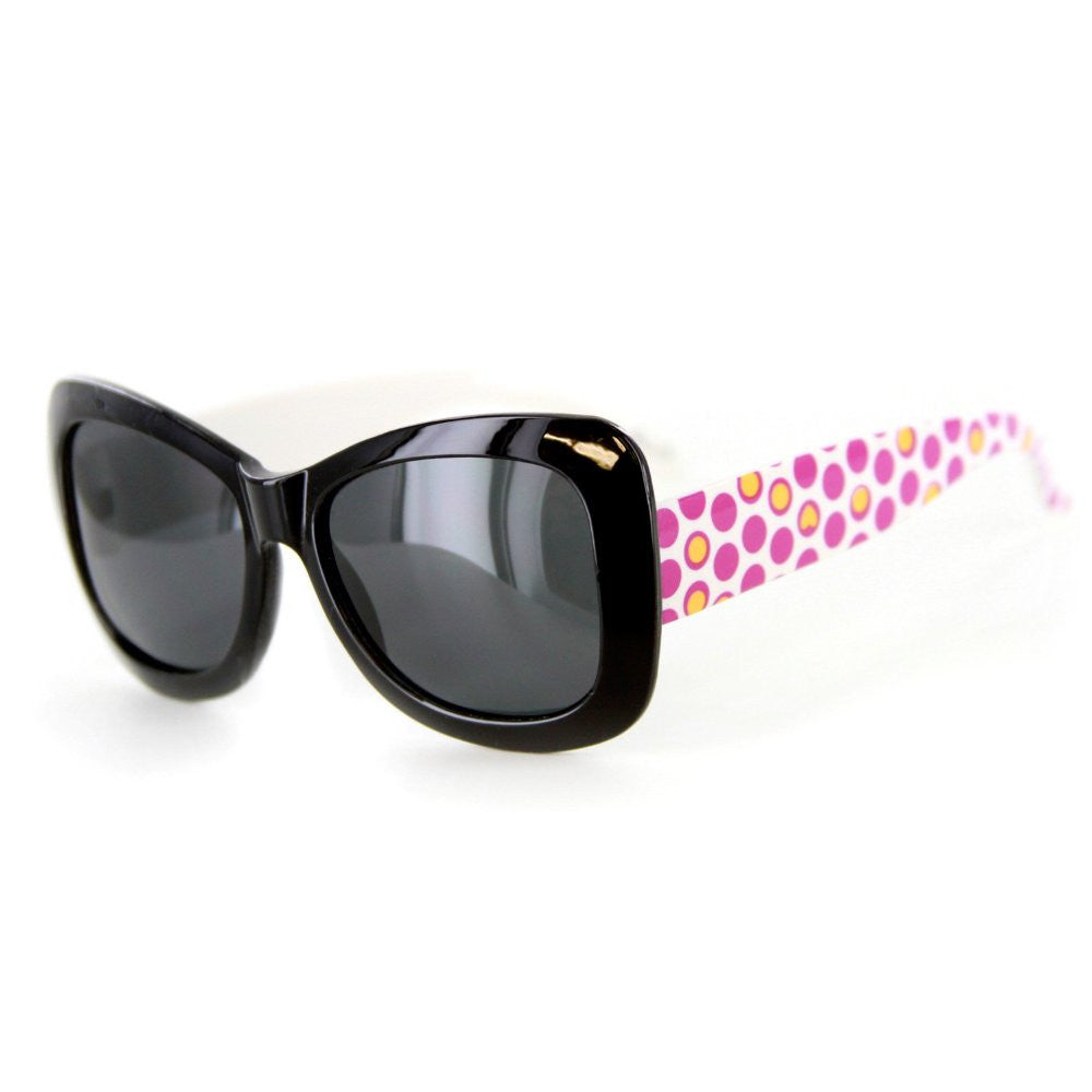 """Hippie Chic"" Polarized (Anti-Glare) Kids Wayfarer Sunglasses Protect Eyes 100%UV - Aloha Eyes - 1"