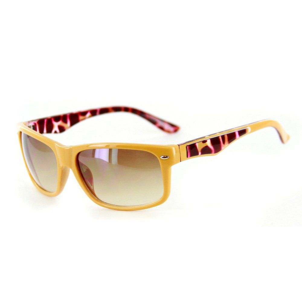 """Go Coastal"" Trendy New Two-Tone Wayfarer Sunglasses-Matching Lens Color 100%UV - Aloha Eyes - 3"