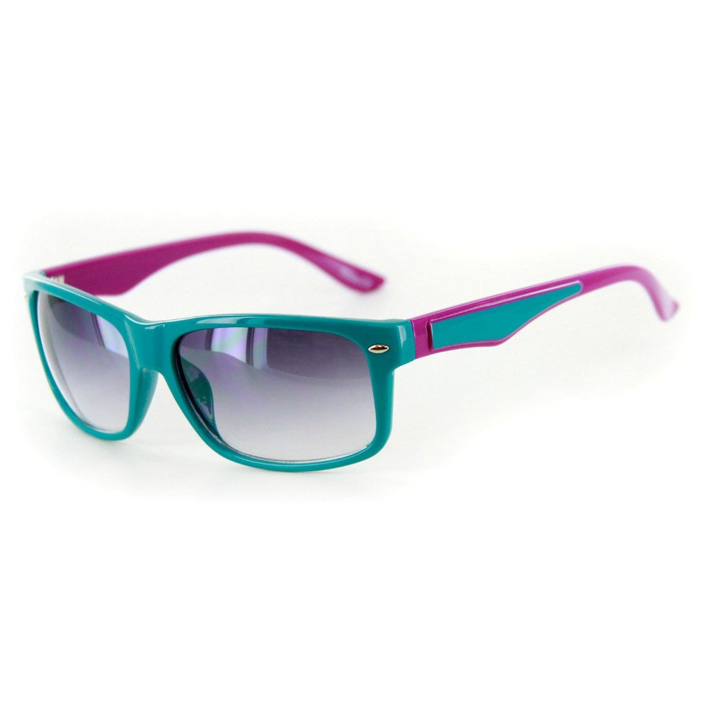 """Go Coastal"" Trendy New Two-Tone Wayfarer Sunglasses-Matching Lens Color 100%UV - Aloha Eyes - 5"