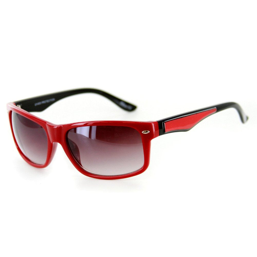 """Go Coastal"" Trendy New Two-Tone Wayfarer Sunglasses-Matching Lens Color 100%UV - Aloha Eyes - 4"