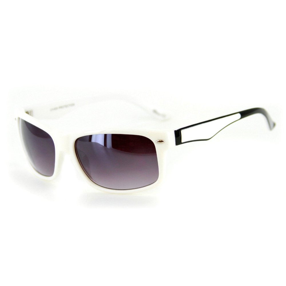 """Go Coastal"" Trendy New Two-Tone Wayfarer Sunglasses-Matching Lens Color 100%UV - Aloha Eyes - 6"