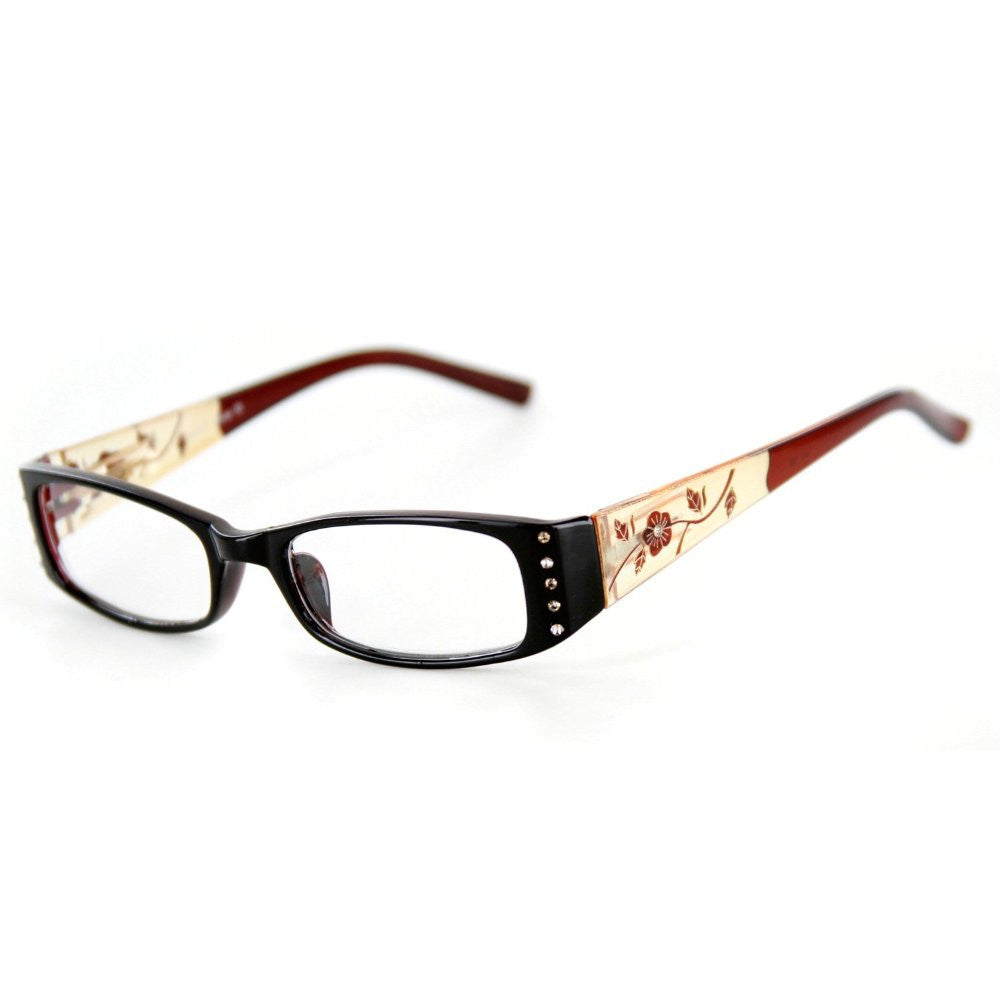"""Wild Hibiscus"" floral designer reading glasses for youthful women with elegance and style. - Aloha Eyes - 4"