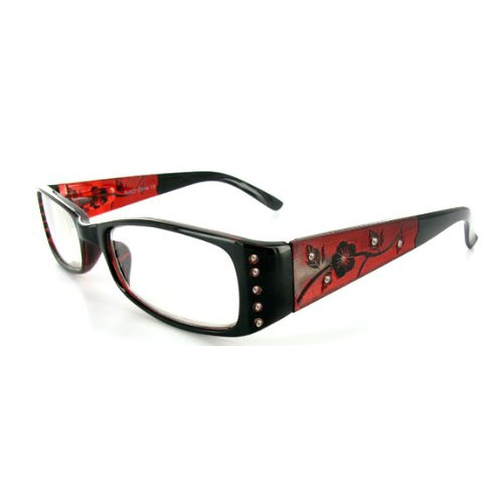 """Wild Hibiscus"" floral designer reading glasses for youthful women with elegance and style. - Aloha Eyes - 5"