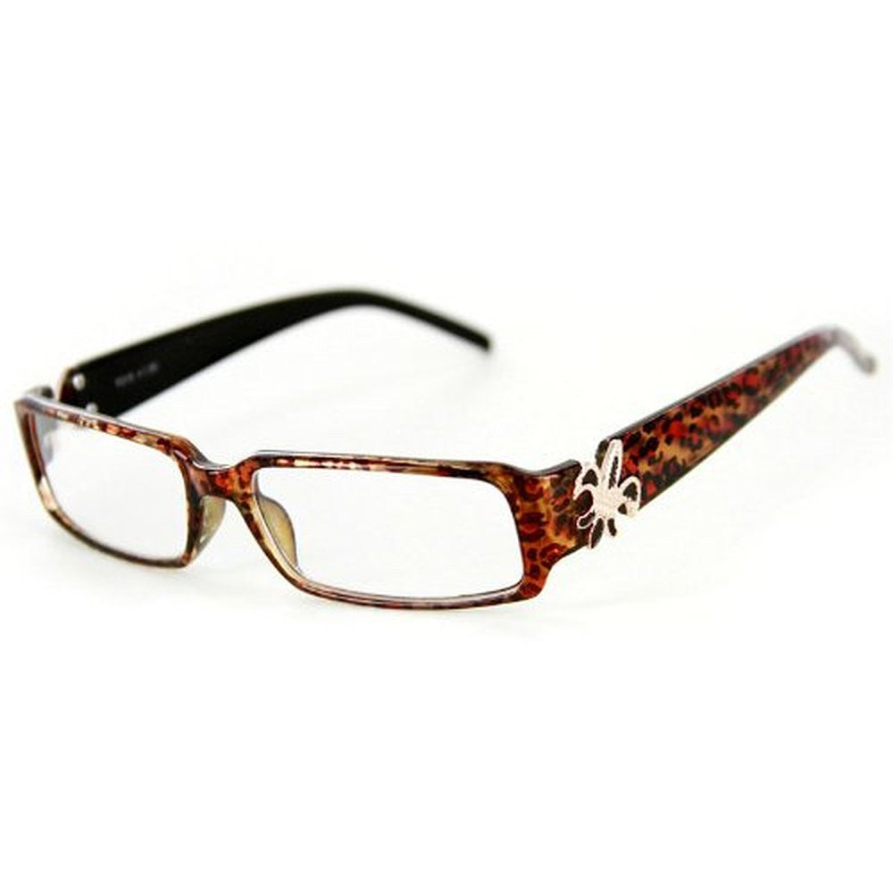"""Cabaret"" Trendy Women's Reading Glasses with Fleur De Lis and Animal Print - Aloha Eyes - 4"
