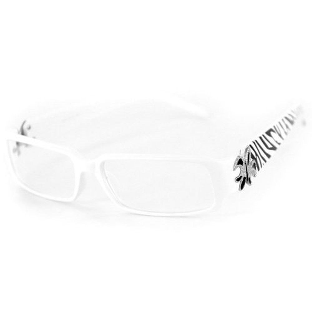 """Cabaret"" Trendy Women's Reading Glasses with Fleur De Lis and Animal Print - Aloha Eyes - 5"