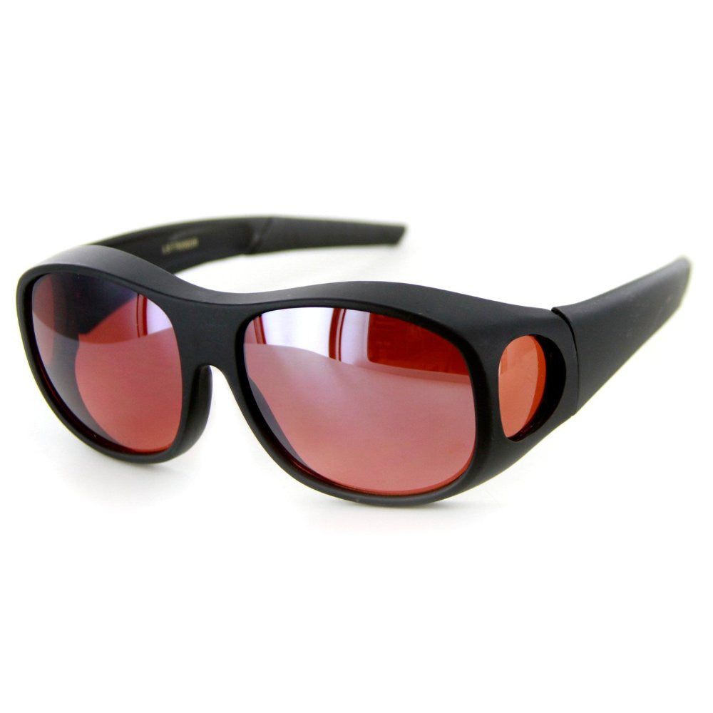 """Hideaways Large"" Over-Prescription Driving Sunglasses w/ Blue Light Blocker Lens for Men and Women - Aloha Eyes - 3"