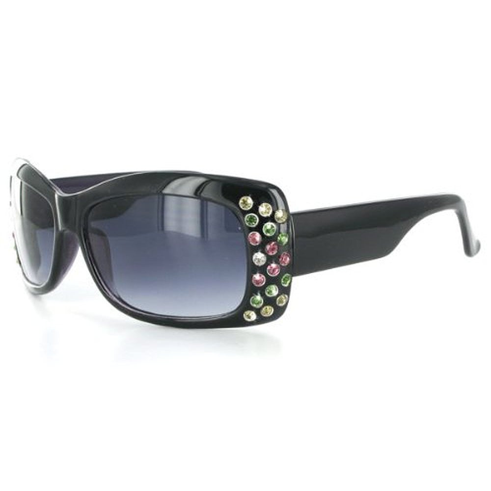 """Broadway 7384"" Women's Fashion Sunglasses with Colorful Austrian Crystals - Aloha Eyes - 1"