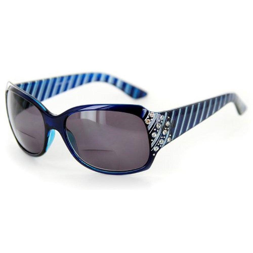 """Stars and Stripes"" Fashion Bifocal Sunglasses with Crystals - Aloha Eyes - 2"