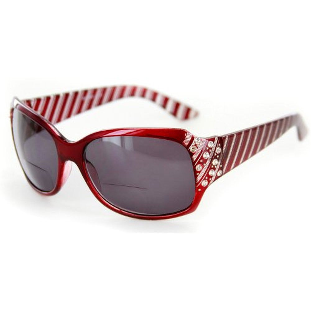 """Stars and Stripes"" Fashion Bifocal Sunglasses with Crystals - Aloha Eyes - 4"