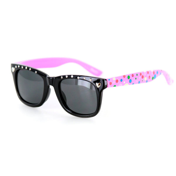 """Bubble Gum"" Polarized Wayfarer Kids' Sunglasses for Girls — 100% UV Protection - Aloha Eyes  - 1"