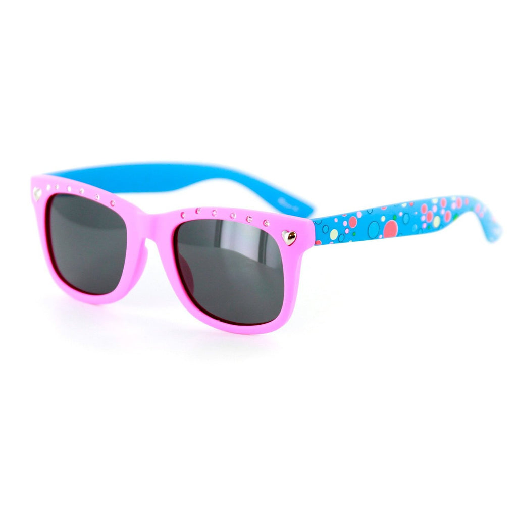 """Bubble Gum"" Polarized Wayfarer Kids' Sunglasses for Girls ‰ÛÓ 100% UV Protection - Aloha Eyes