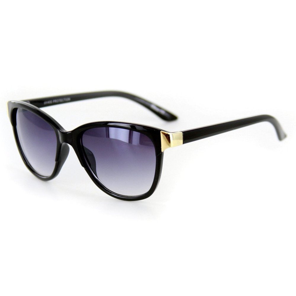 """Verona"" Vintage-Inspired Wayfarer Sunglasses with Mod Stripes - 100% UV - Aloha Eyes - 1"