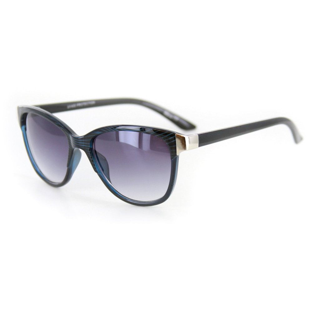 """Verona"" Vintage-Inspired Wayfarer Sunglasses with Mod Stripes - 100% UV - Aloha Eyes - 2"