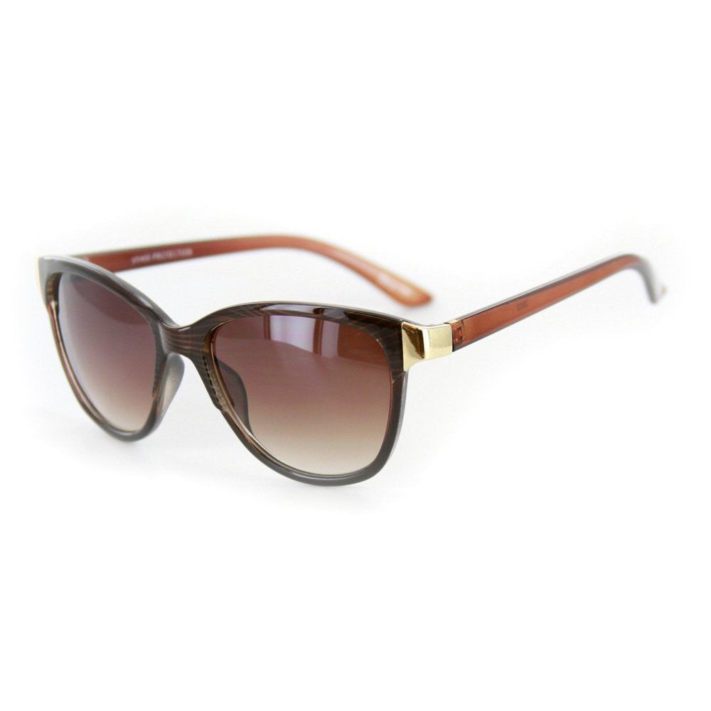 """Verona"" Vintage-Inspired Wayfarer Sunglasses with Mod Stripes - 100% UV - Aloha Eyes - 4"