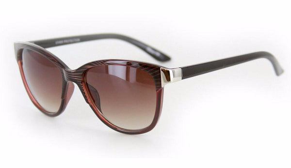"""Verona"" Vintage-Inspired Wayfarer Sunglasses with Mod Stripes - 100% UV - Aloha Eyes - 3"