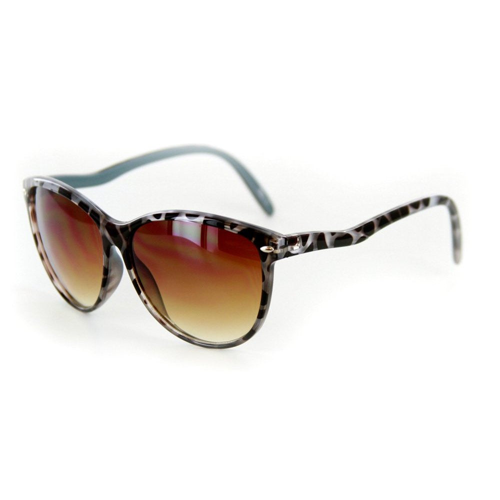 """Bella"" Vintage-Inspired Wayfarer Sunglasses with Slim Arms - 100% UV - Aloha Eyes - 2"