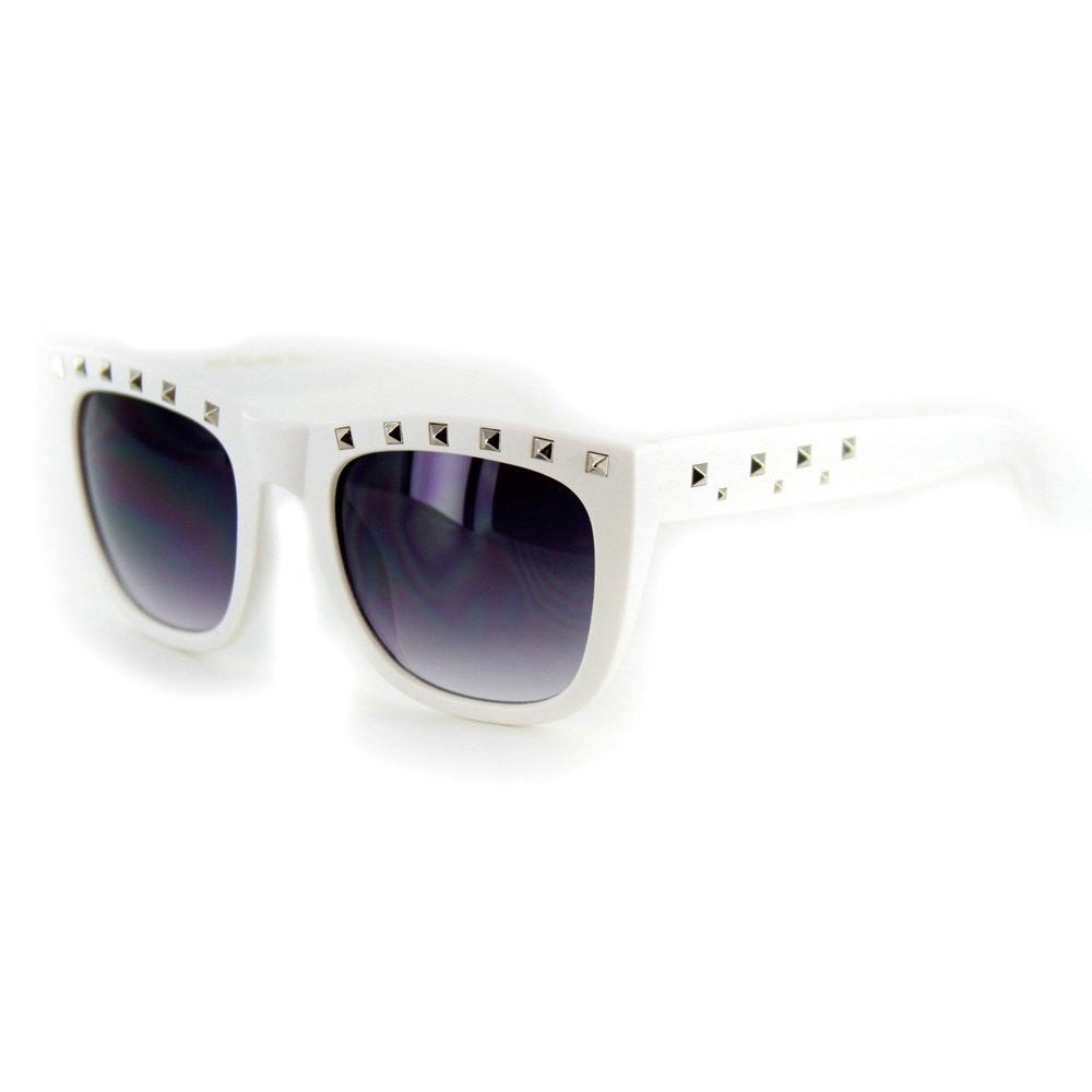 """Stage One"" Vintage-Inspired Wayfarer Sunglasses with Studs - 100% UV - Aloha Eyes - 4"