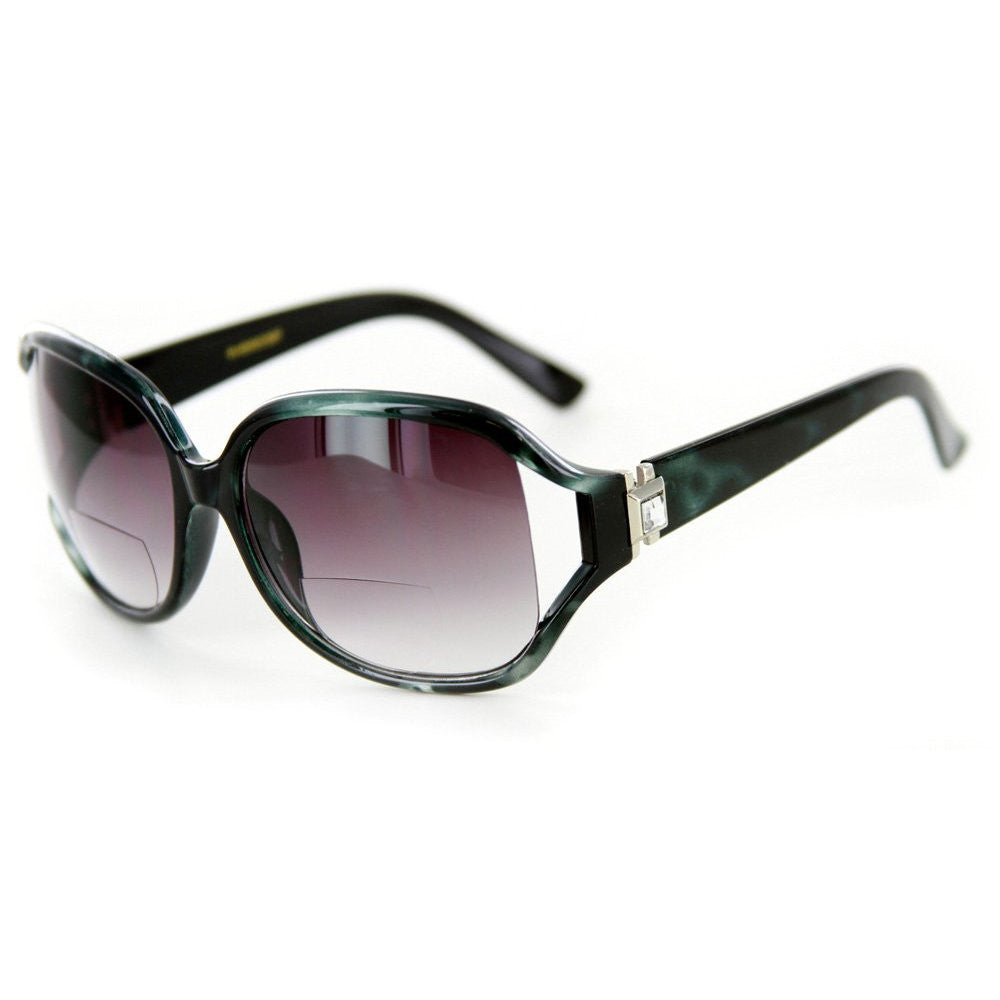 """Class Act"" Bifocal Sunglasses with Crystals for Youthful and Stylish Women - Aloha Eyes - 2"
