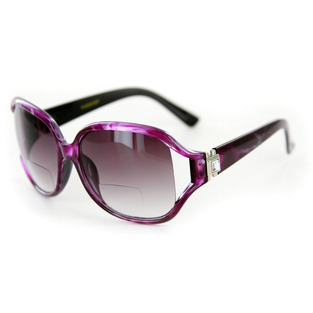 """Class Act"" Bifocal Sunglasses with Crystals for Youthful and Stylish Women - Aloha Eyes - 3"