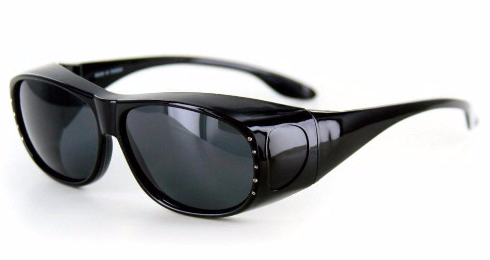 """Rhinestone Hideaways"" Over-Prescription Polarized Sunglasses for Stylish Women - Aloha Eyes - 1"