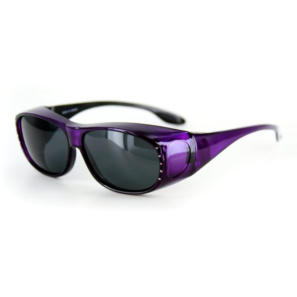 """Rhinestone Hideaways"" Over-Prescription Polarized Sunglasses for Stylish Women - Aloha Eyes - 2"