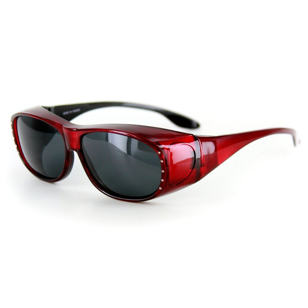 """Rhinestone Hideaways"" Over-Prescription Polarized Sunglasses for Stylish Women - Aloha Eyes - 4"