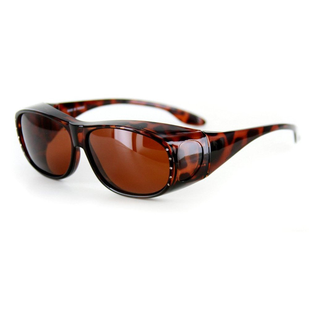 """Rhinestone Hideaways"" Over-Prescription Polarized Sunglasses for Stylish Women - Aloha Eyes - 5"