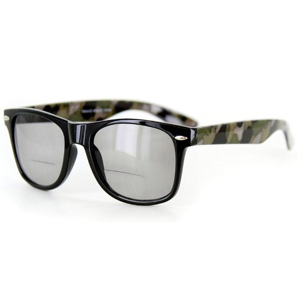 """Camo Wayfarer"" Fashion Bifocal Sunglasses for Stylish Men and Women - Aloha Eyes - 2"