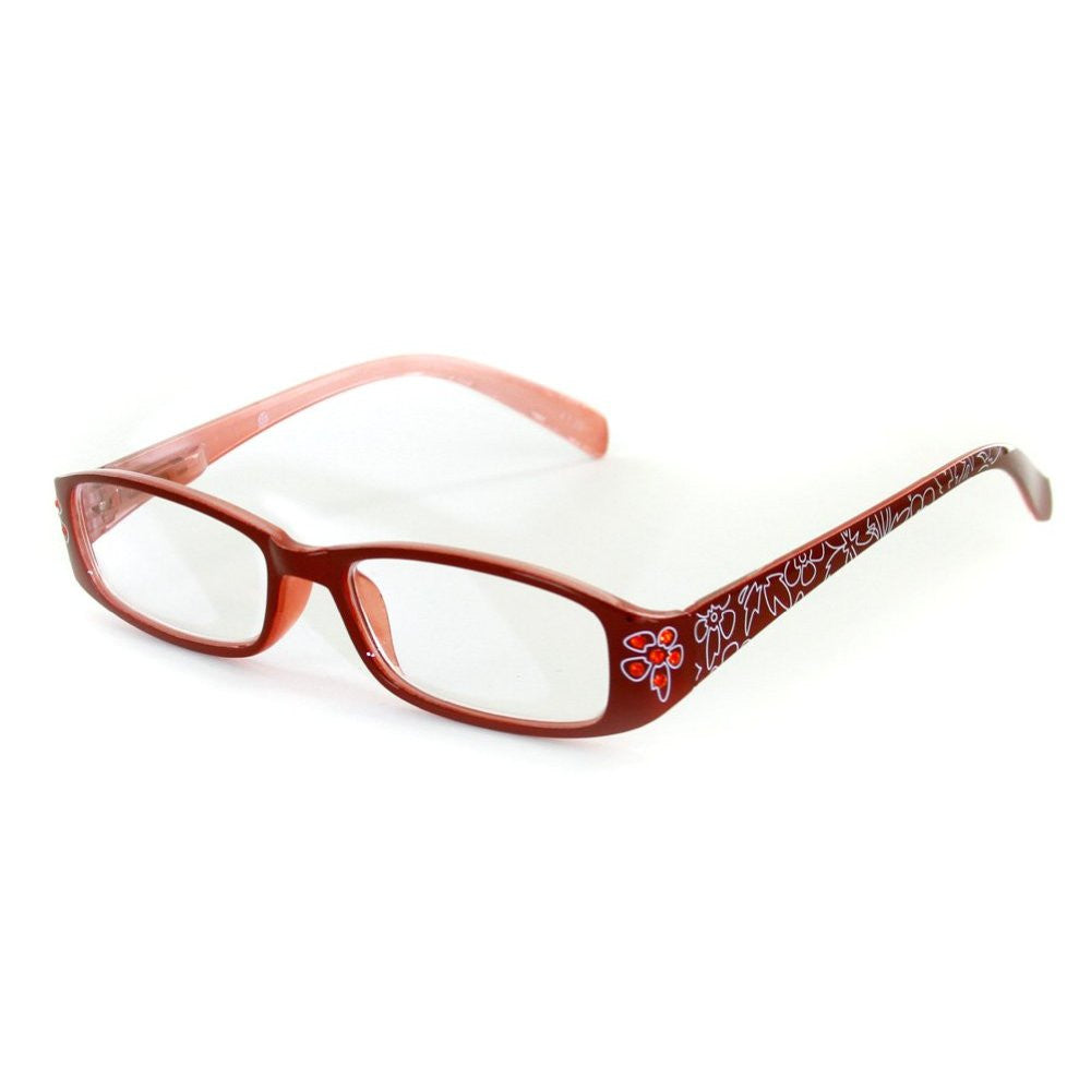 """Lotus"" Slim Floral Readers with With Colored Austrian Crystals for Women - Aloha Eyes - 3"