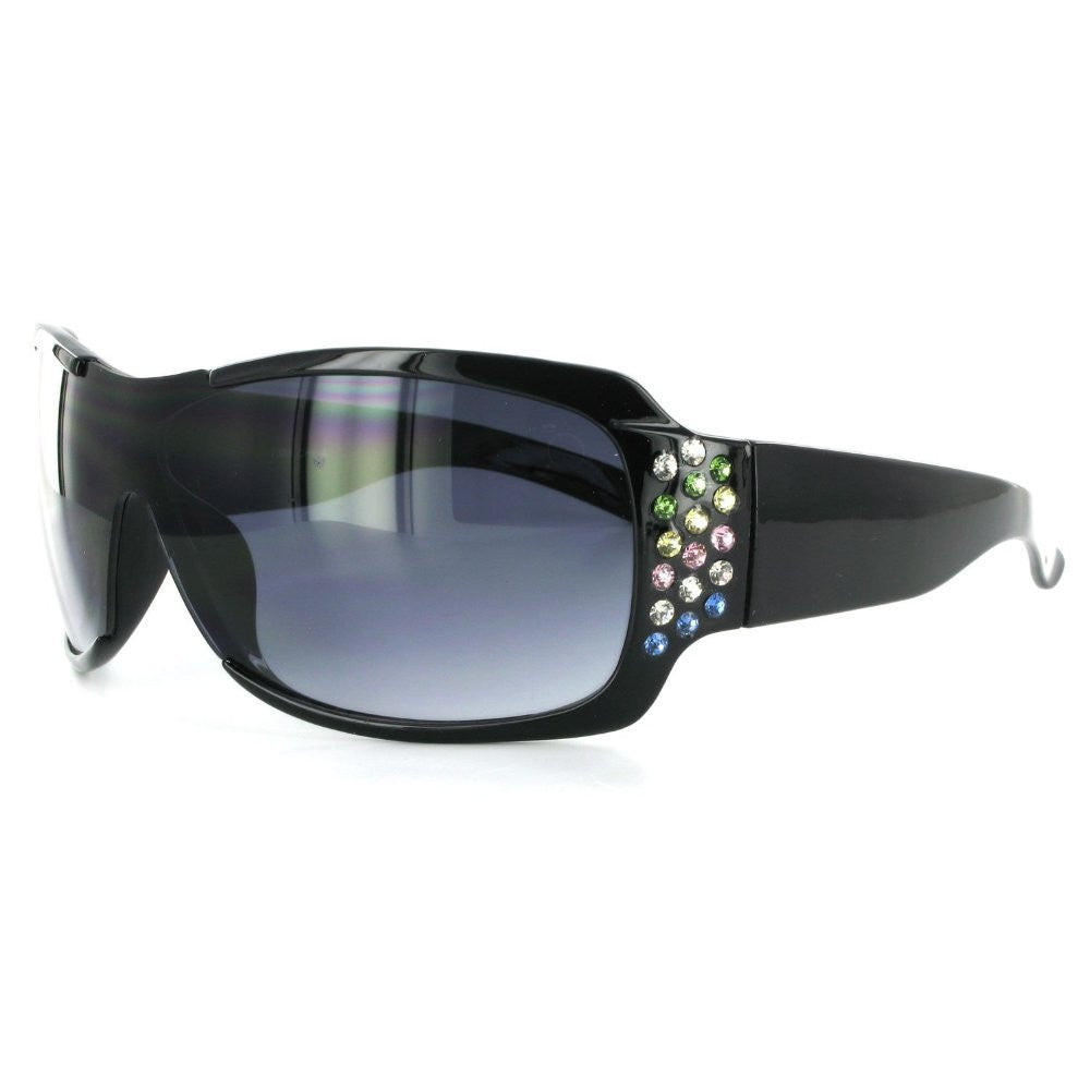 """Broadway 7386"" Designer Fashion Sunglasses Inlaid with Colorful Austrian Crystals - Aloha Eyes - 4"