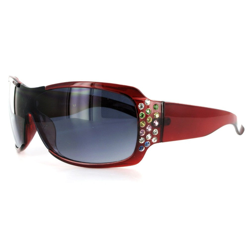"""Broadway 7386"" Designer Fashion Sunglasses Inlaid with Colorful Austrian Crystals - Aloha Eyes - 3"