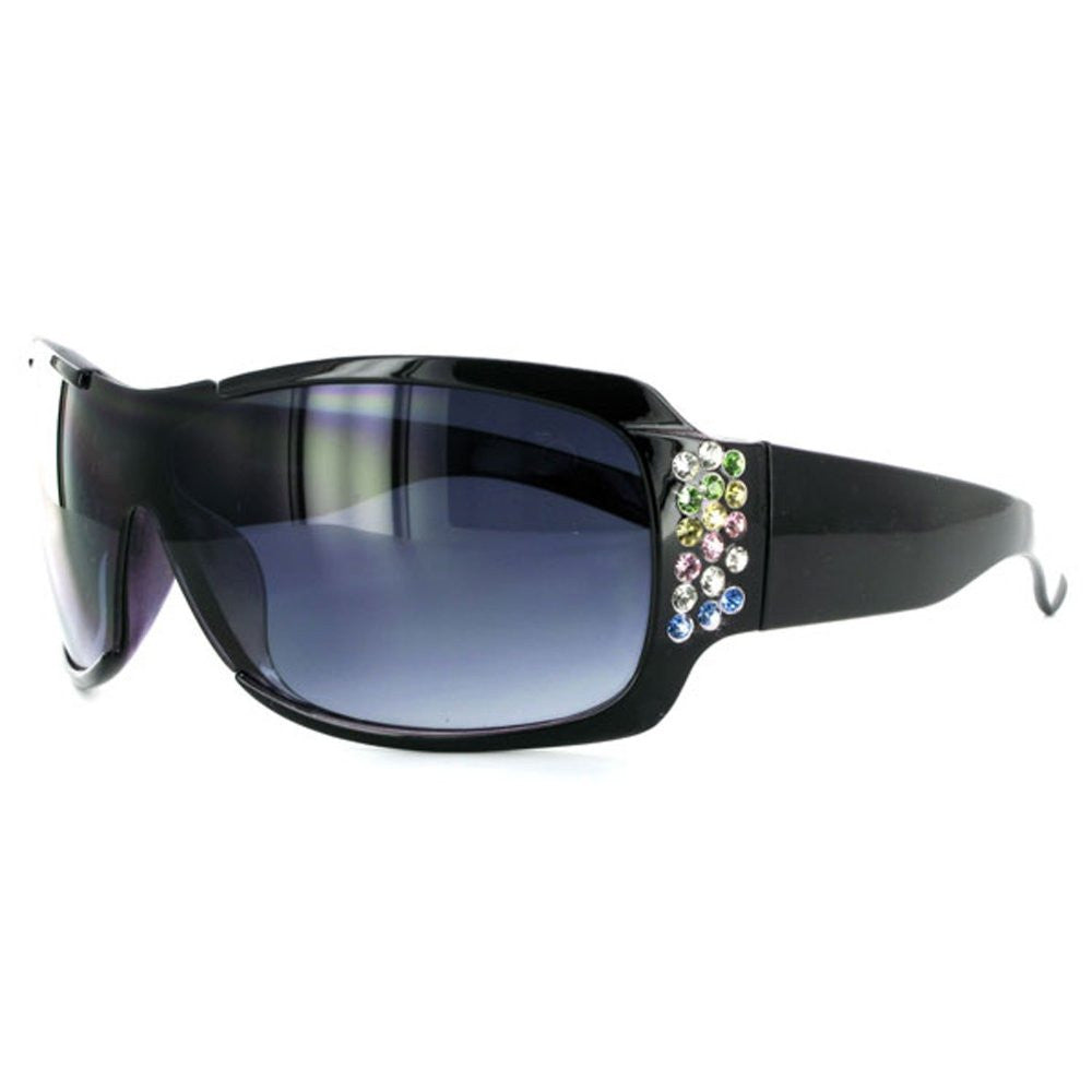"""Broadway 7386"" Designer Fashion Sunglasses Inlaid with Colorful Austrian Crystals - Aloha Eyes - 2"