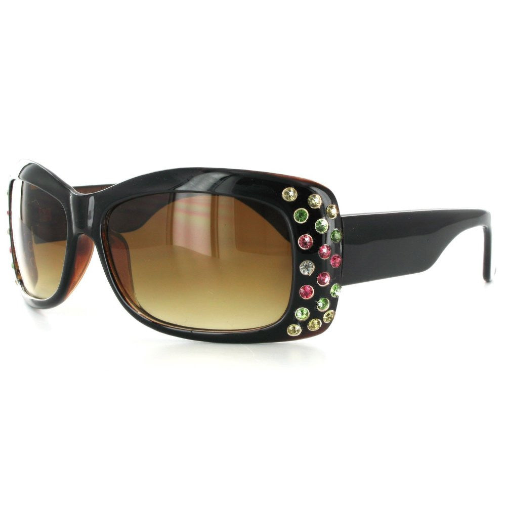"""Broadway 7384"" Women's Fashion Sunglasses with Colorful Austrian Crystals - Aloha Eyes - 5"
