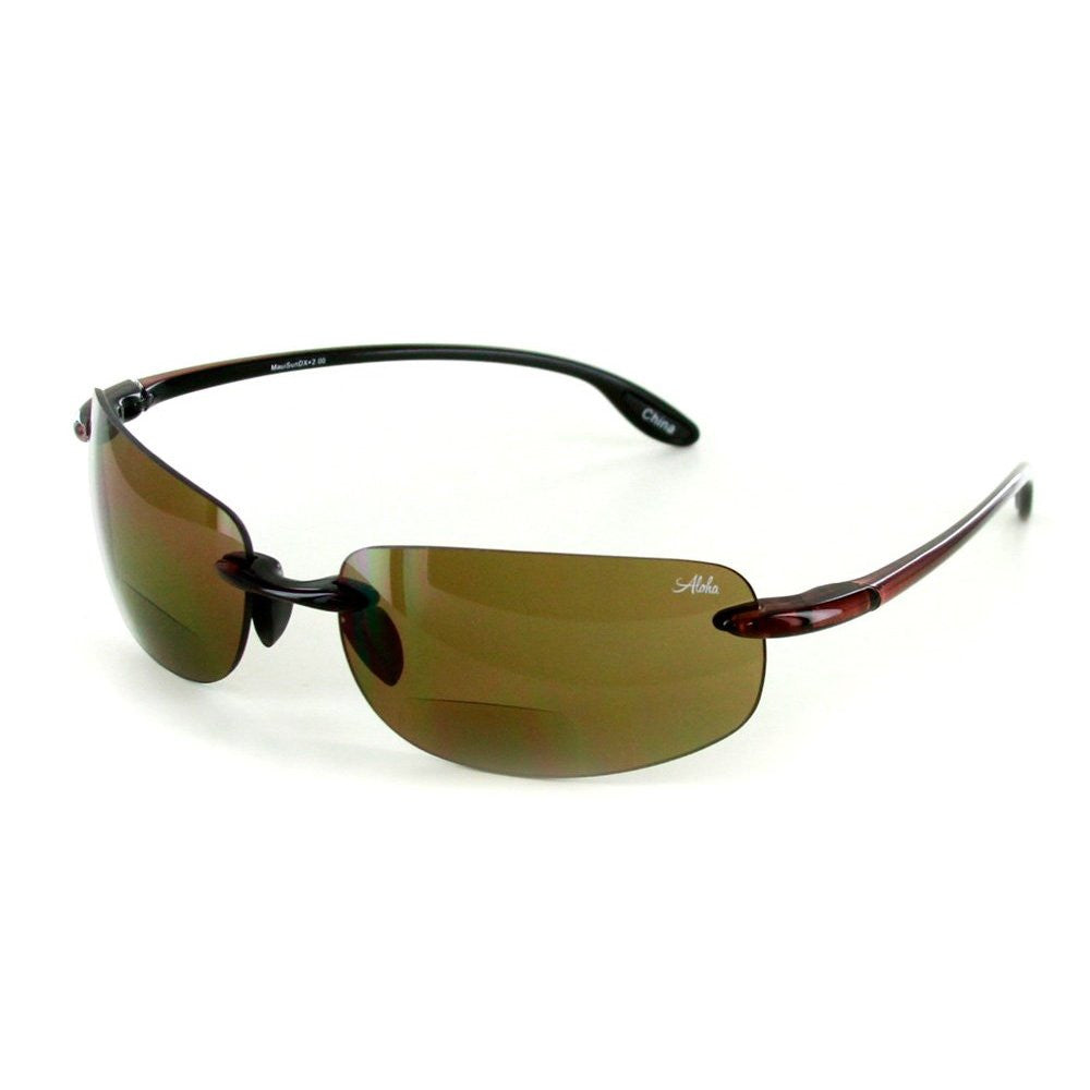 """Maui Sun Deluxe"" Stylish Bifocal Sunglasses with Rimless Design for Men and Women - Aloha Eyes - 2"